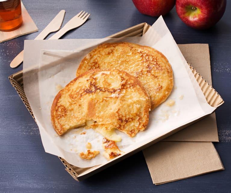 Panqueques de manzana al ron