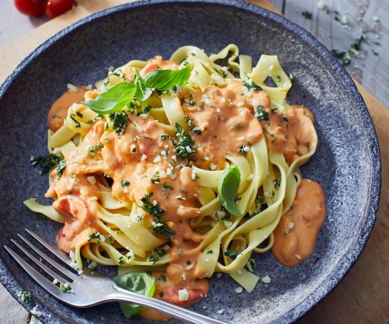Pasta mit Bohnen-Tomaten-Sugo