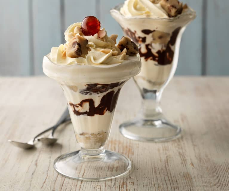 Cookie Dough Ice Cream Sundaes