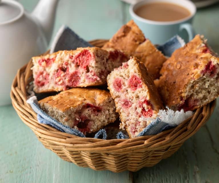 Raspberry Oatmeal Breakfast Cake