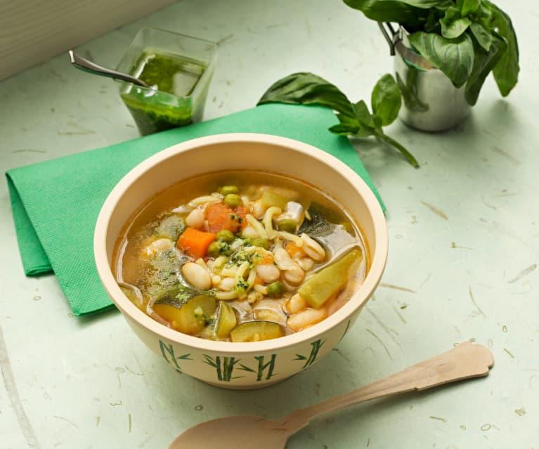 Sopa francesa de verduras (Soupe au pistou)