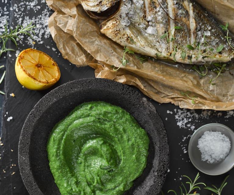 Hedvábné brokolicové pyré