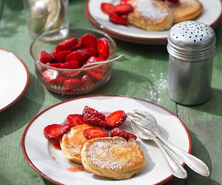 Rahmdalken mit Erdbeeren