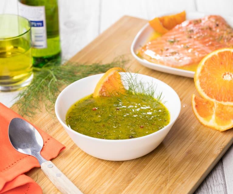 Marinatura all'arancia e finocchietto