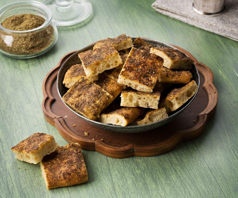 Pan especiado libanés (Mankoush) - Líbano