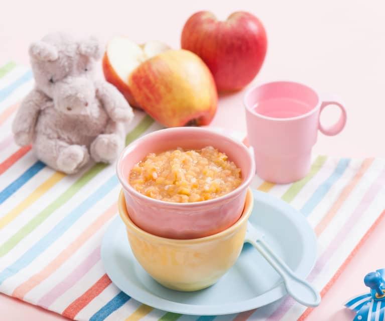 Soczewica z ryżem i jabłkiem
