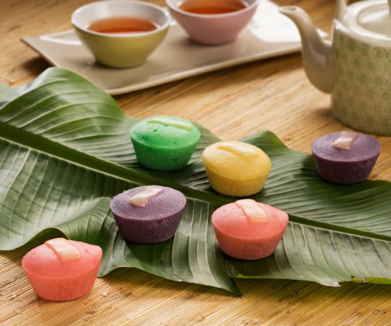 Pasteles de arroz al vapor (Putos) - Filipinas