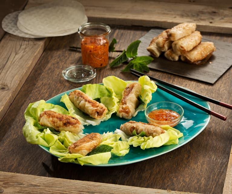 Rollitos vietnamitas de gambas y cerdo (Nems) - Vietnam