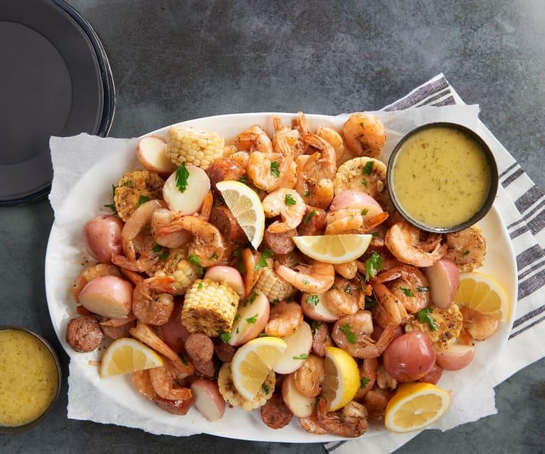 Cajun Shrimp Steamer with Garlic Butter