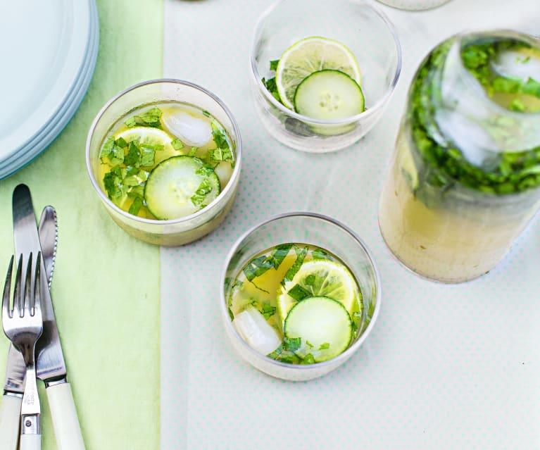 Cocktail concombre-citronnelle-citron vert