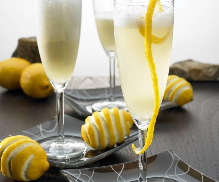 Citroenslush met champagne