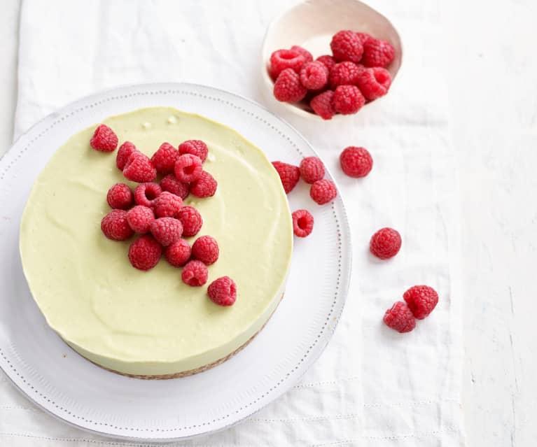 Cheesecake de abacate vegan
