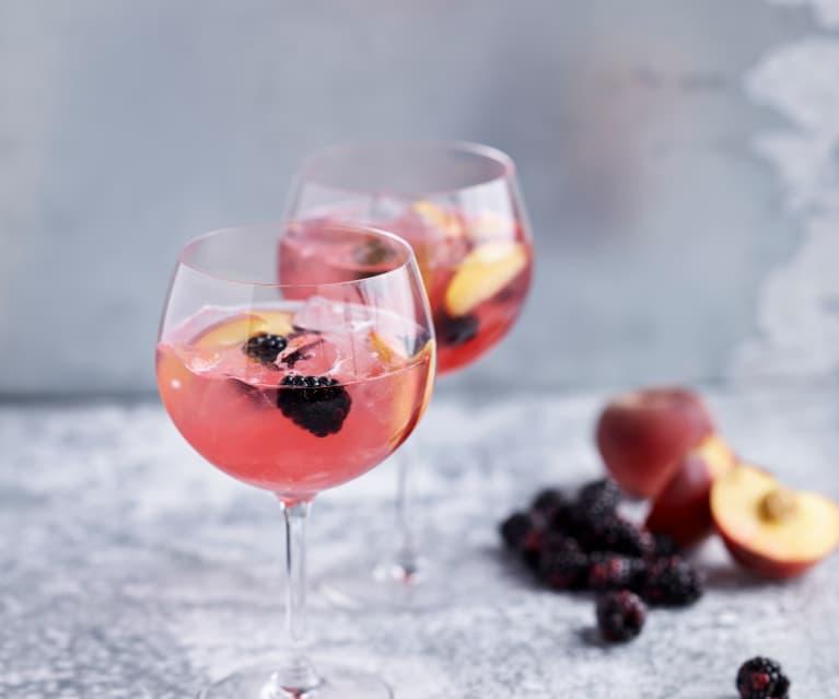 Gin de pêssego e amora
