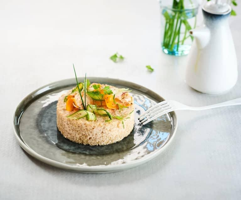Crème de langoustine, quinoa de légumes de saison (Eric Guérin)