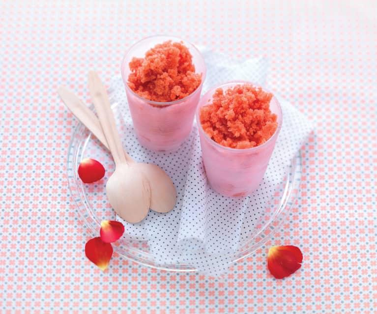 Granité fraise-coquelicot
