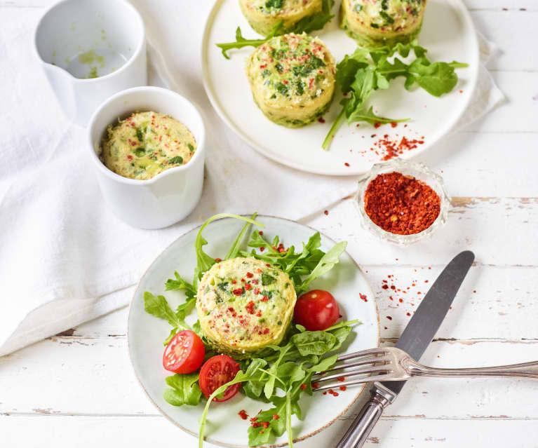 Grüne Omelettes aus den Varoma® Förmchen