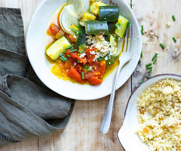 Couscous de courgettes, tomates et fenouil