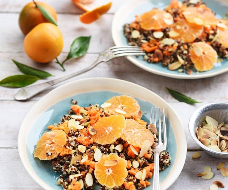 Salade de quinoa, carottes et clémentines