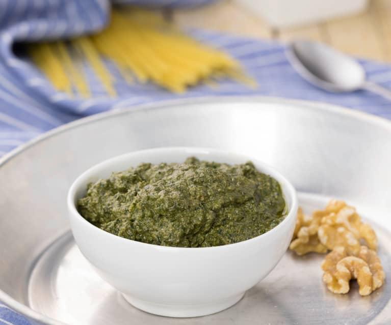 Ricetta Pesto Light.Pesto Light Basilico E Noci Cookidoo La Nostra Piattaforma Ufficiale Di Ricette Per Bimby