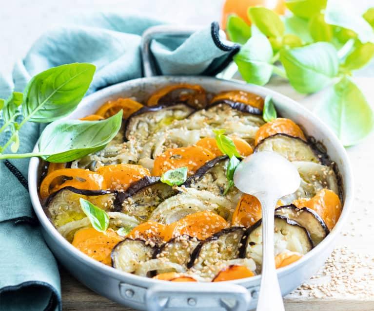 Tian de fenouil, aubergines et tomates