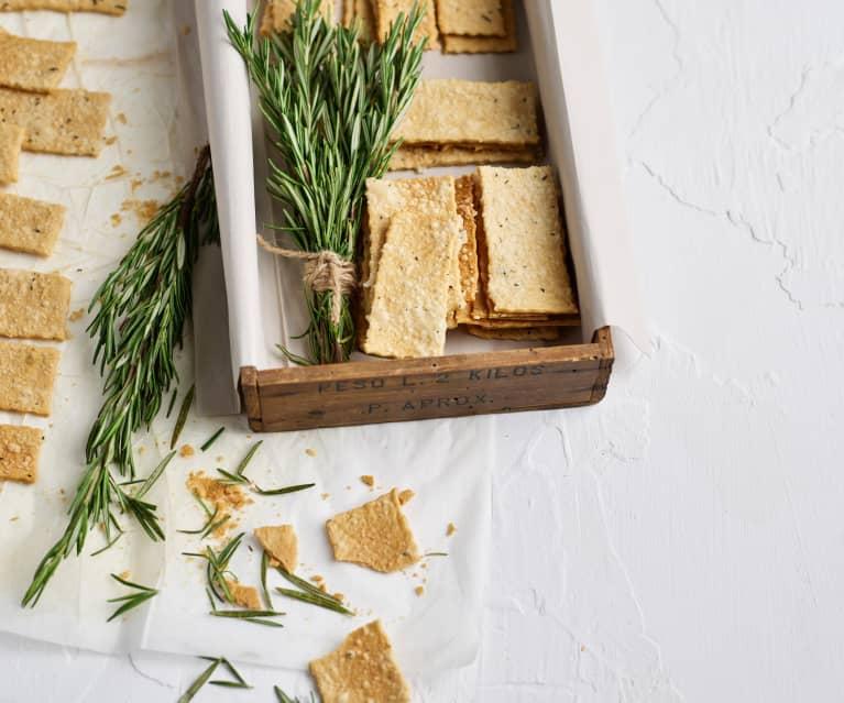 Bolachas de queijo e alecrim