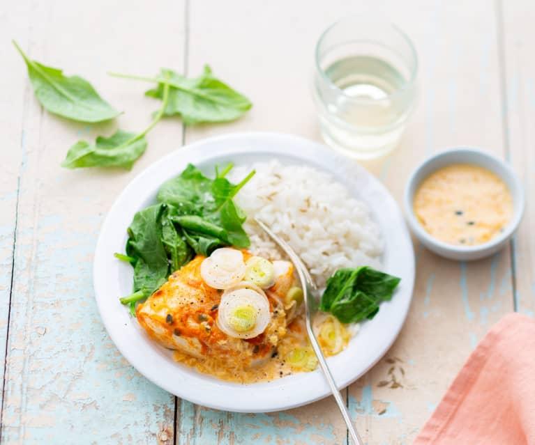 Curry de cabillaud aux fruits de la Passion