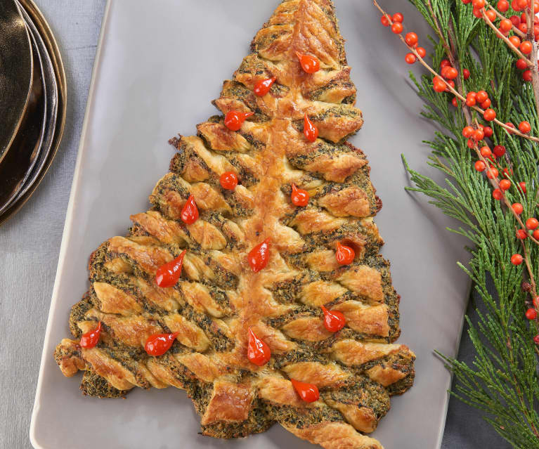 Christmas Tree Spinach Puff
