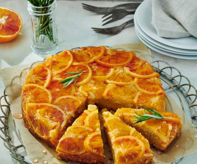 Blutorangen-Rosmarin-Kuchen