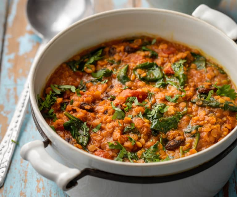 Coconut and Spinach Dahl