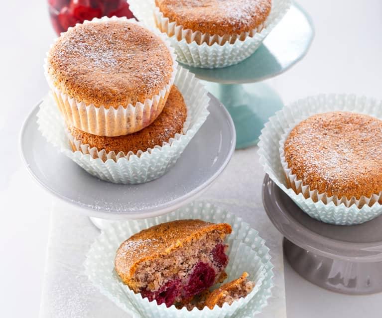 Haselnuss-Kirsch-Muffins (zuckerfrei)