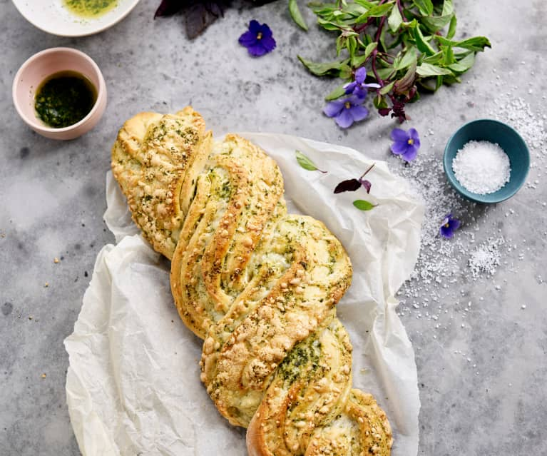 Pão com pesto
