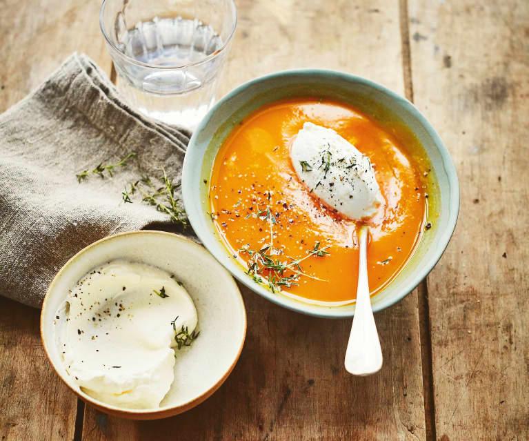 Soupe de butternut et chantilly au gingembre