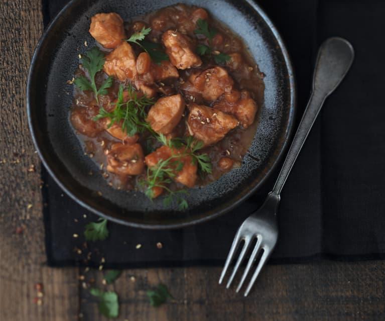 Poulet au gingembre et aux oignons