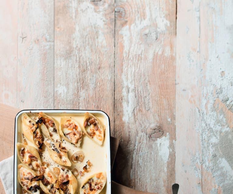 Conchiglioni farcis, mont-d'or et champignons