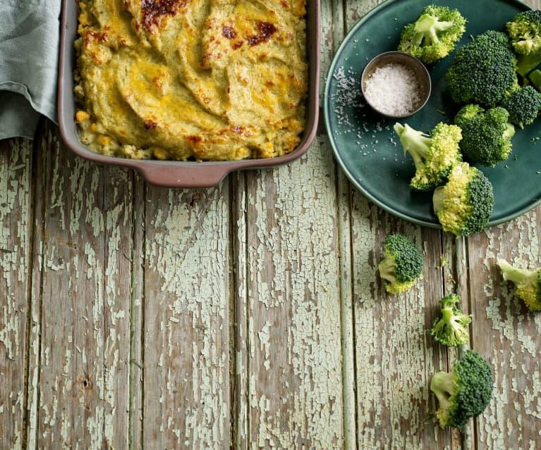 Empadão de brócolos com peixe