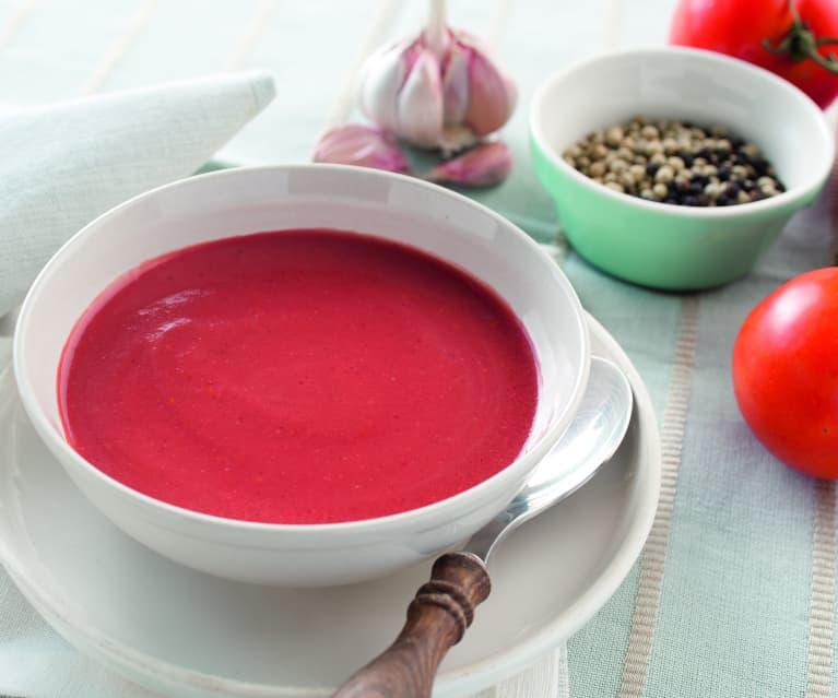 Gazpacho de zanahoria sin tomate thermomix