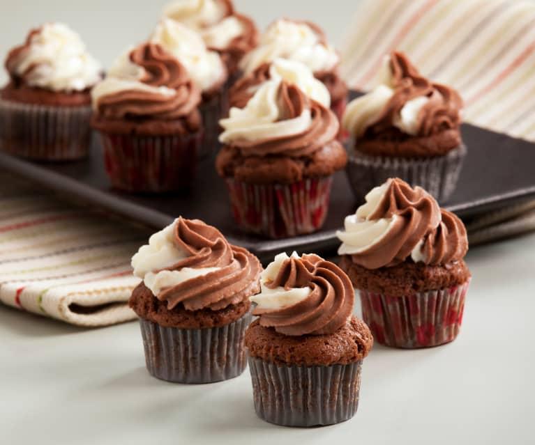 Minicupcakes de chocolate y mascarpone