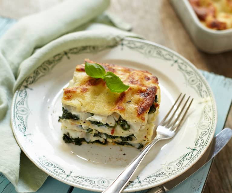 Pollock and Spinach Lasagne