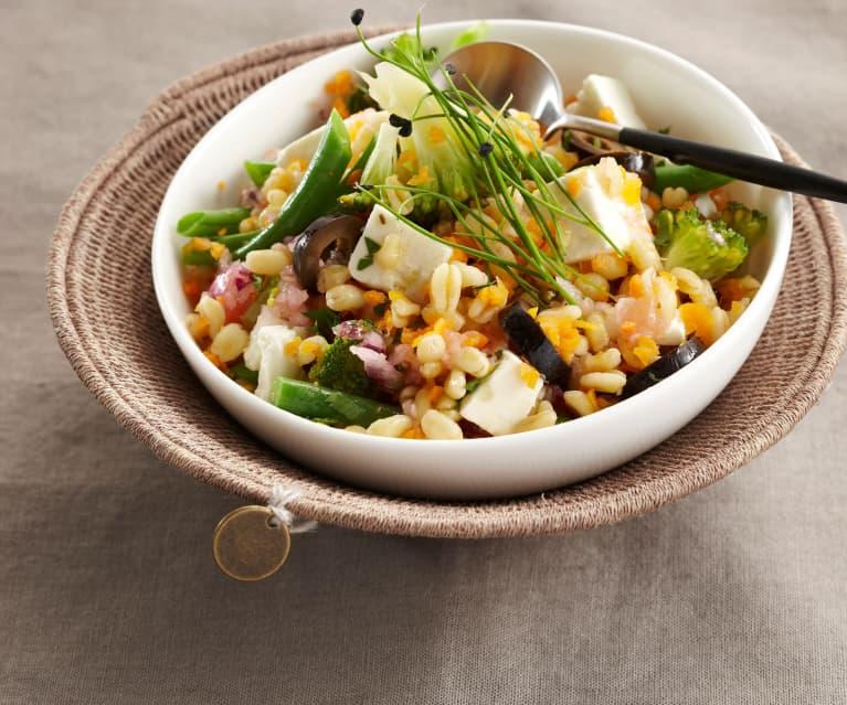 Salade de blé aux petits légumes
