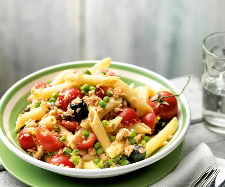 Pasta Salad with Vegetables and Trout