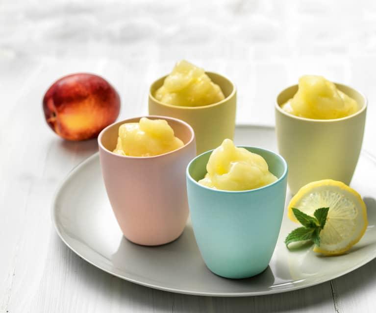 Quick fruit sorbet