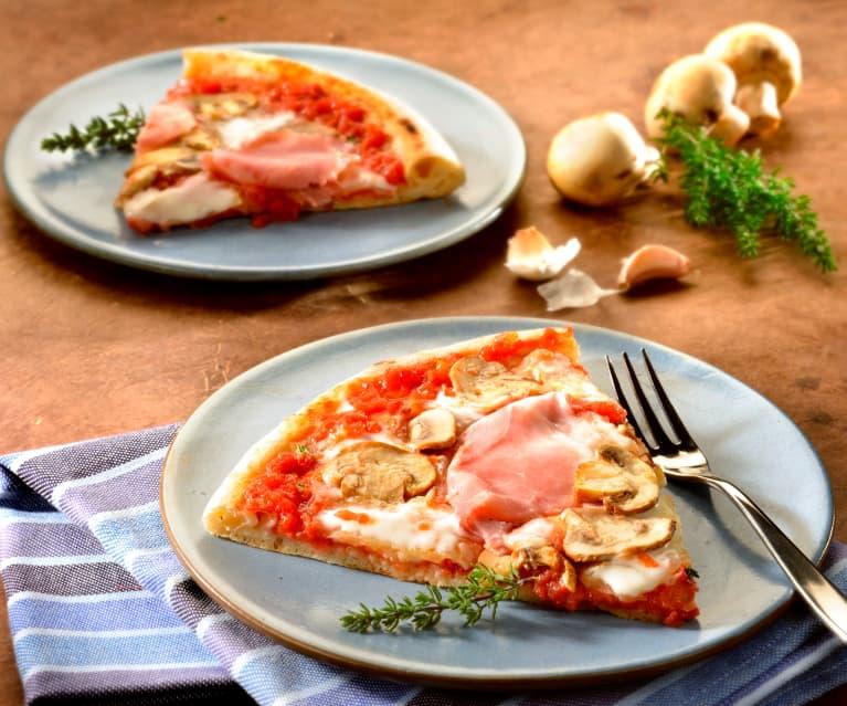 Prosciutto and Mushroom Pizza
