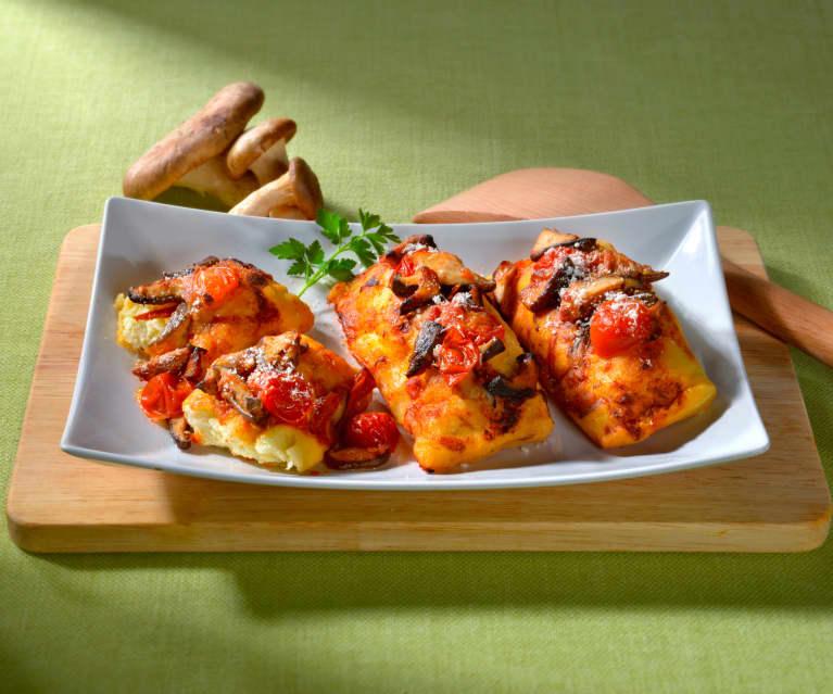 Mini-calzones champignon-ricotta