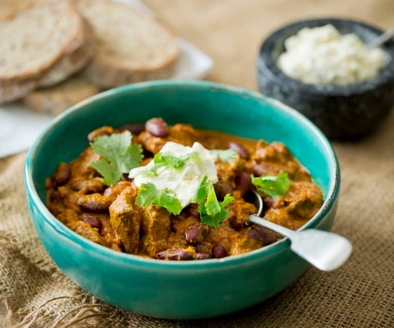 Beef Chili with Lemon Feta
