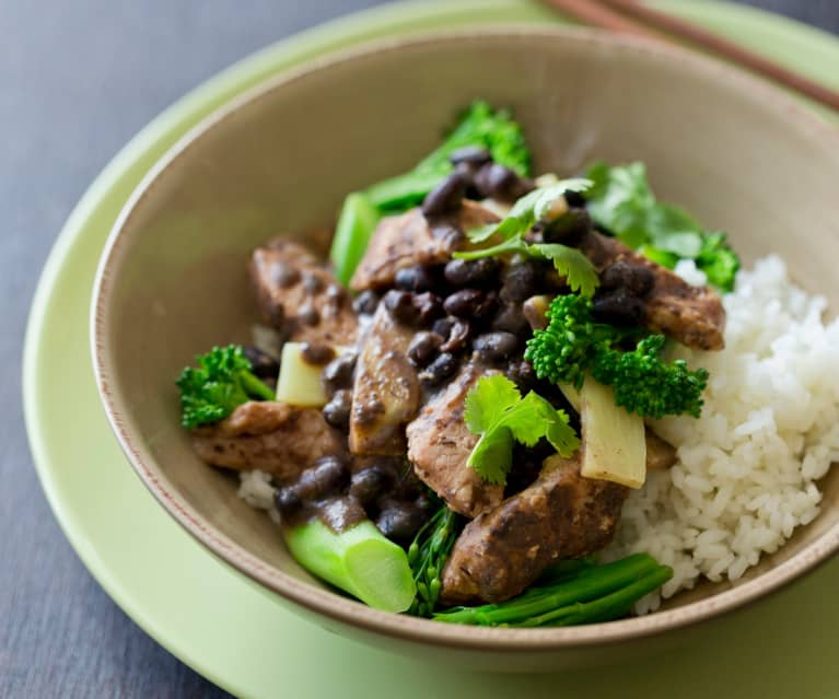Pork with Black Bean Sauce