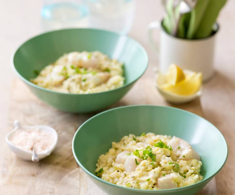 White fish and lemon risotto