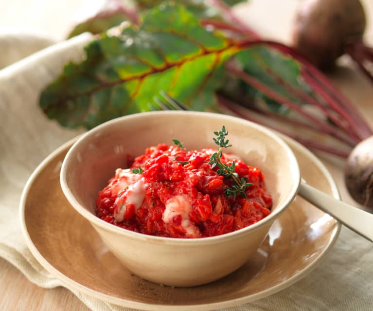 Beetroot, Thyme and Goat's Cheese Risotto